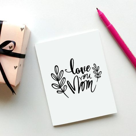 Mothers Day Card Printable Love You Mom Digital