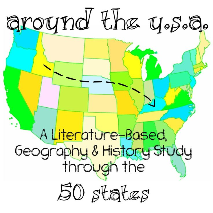 Our Journey Westward has a FREE 50 States literature Based Unit study. She includes books to read (which you can find at your local library), printables and games