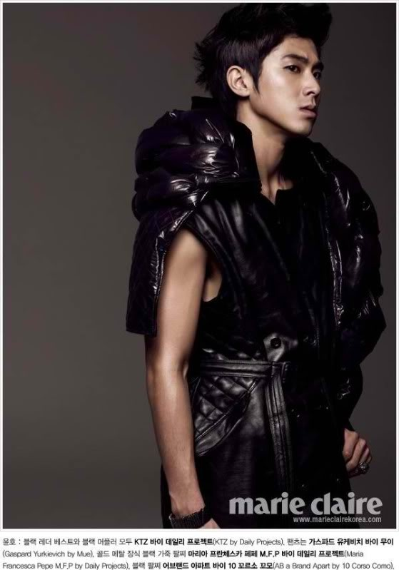 Jung Yunho for Marie Claire Korea. Special edition January 2011.
