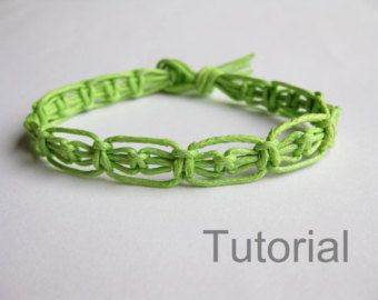 Pattern bracelet macrame pdf tutorial pink knotted adjustable
