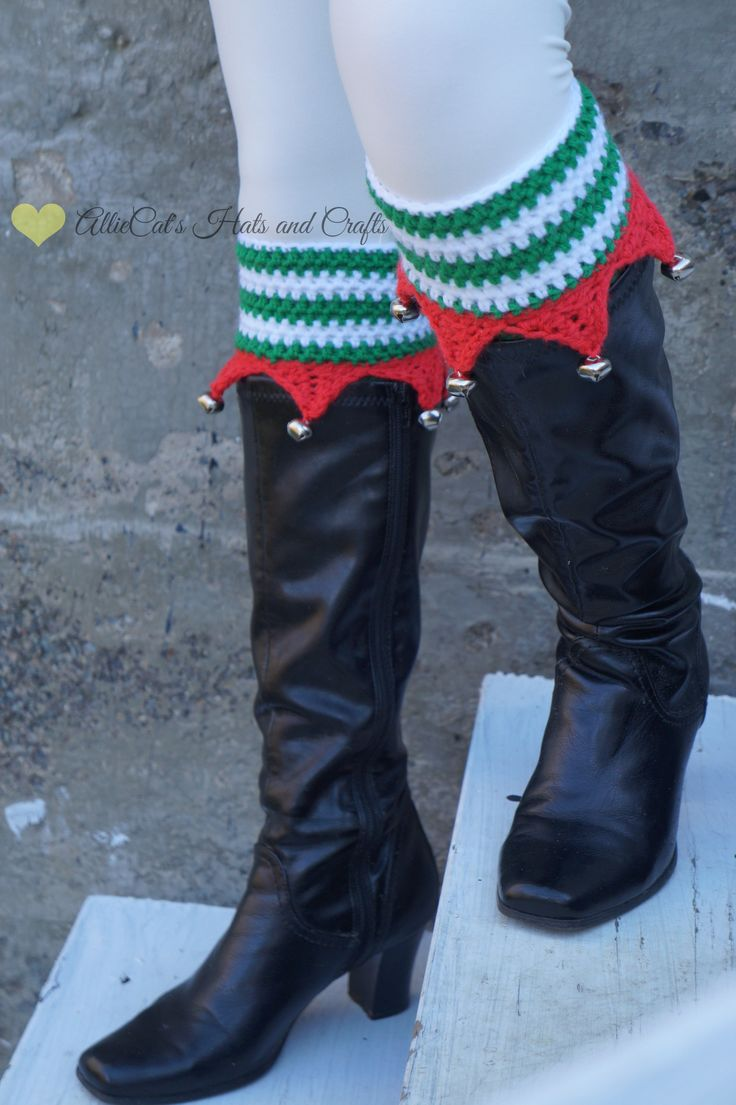 Elf Boot Cuffs crochet pattern                                                                                                                                                                                 More