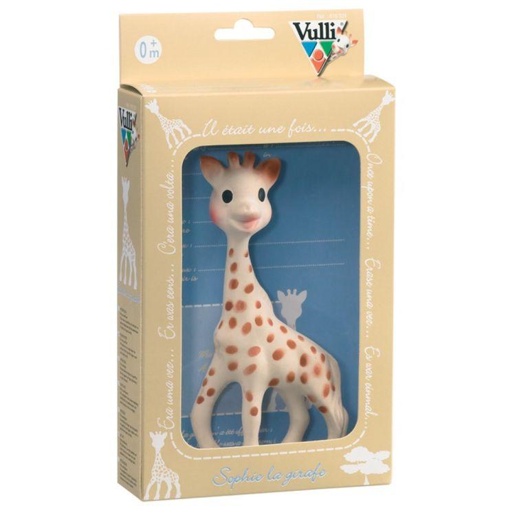 Klassiska Sophie the Giraffe i fin presentask.
