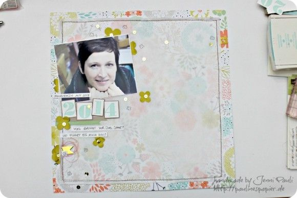 scrapbook layout with SAB sweet sorbet dsp and velum
