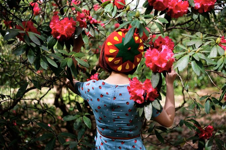 @girlwiththeredbob in the Strawberry Beret by Elleni the Label