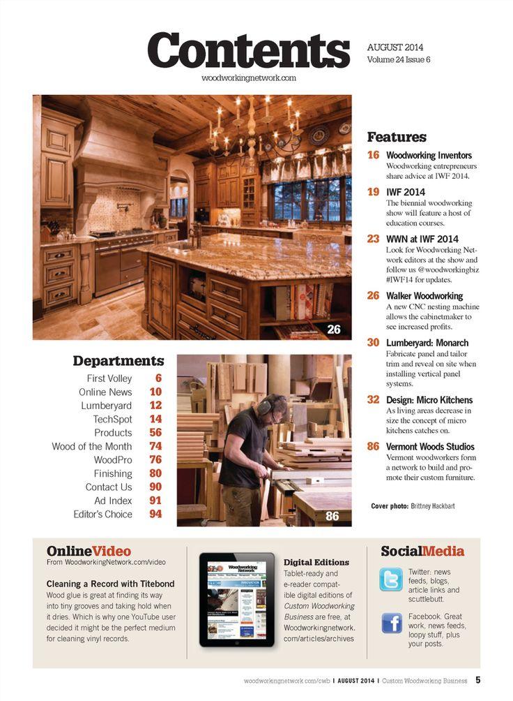 Custom Woodworking Business August 2014 | Custom ...