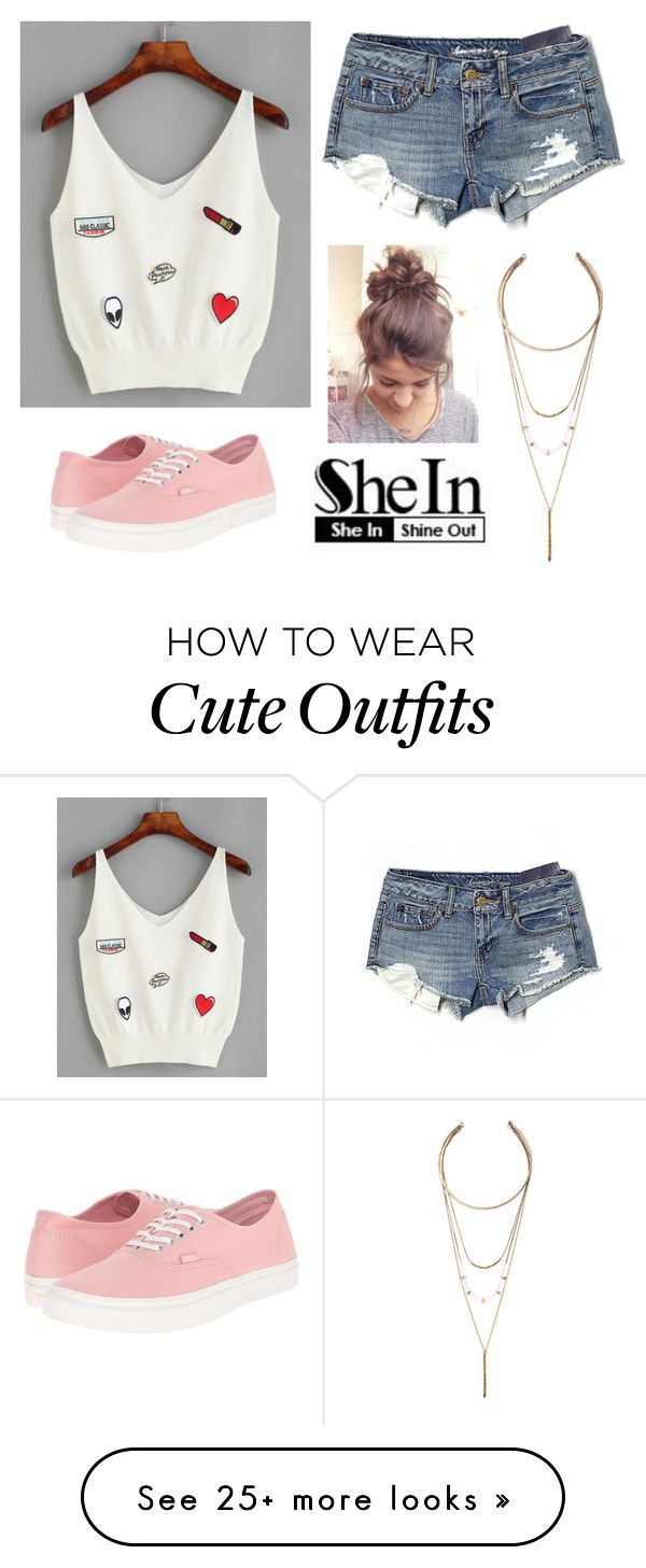 """Appliqué"" by ajonas95 on Polyvore featuring American Eagle Outfitters, Vans and LULUS"