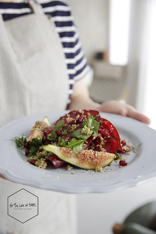 Beetroot-fig salad