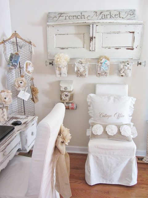 Shabby chic craft room Junk Chic Cottage: August 2012