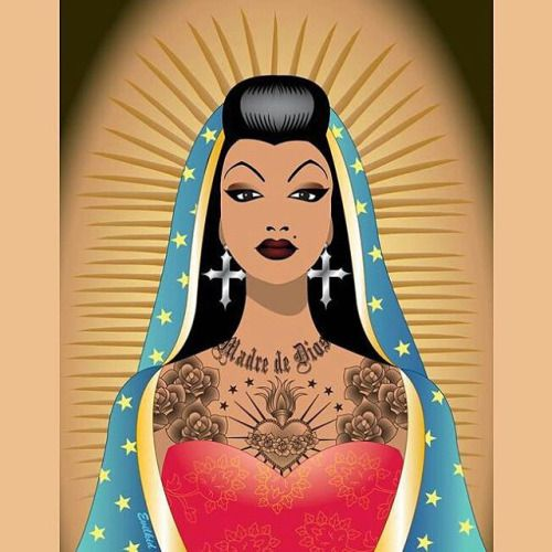 Chola Guadalupe Art By @avphibes #Chola #Guadalupe ❤