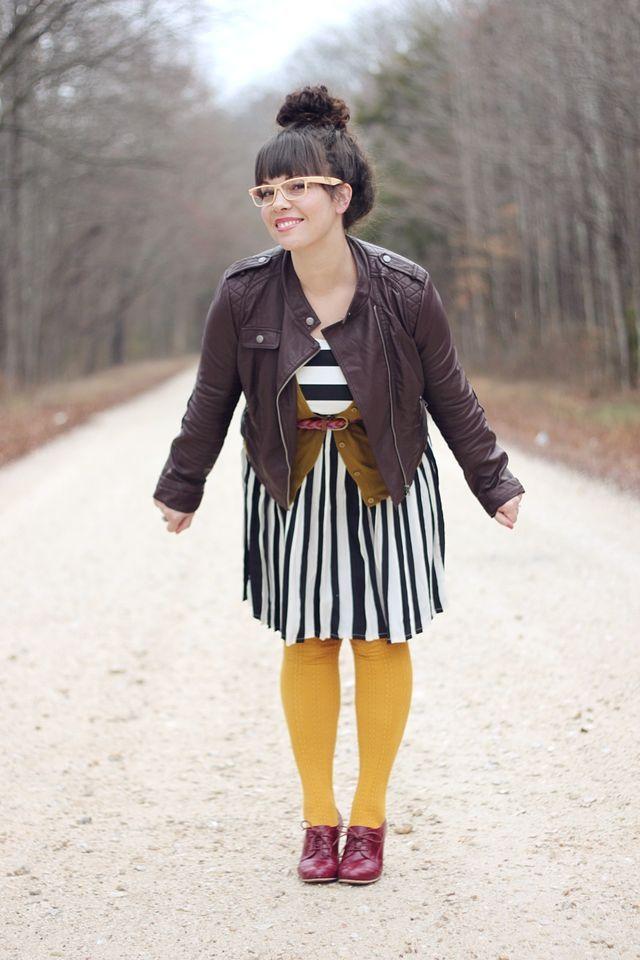 SmileandWave's Rachael Denbow's creative outfits make me smile. I really love HOW she wears things. Supercute!