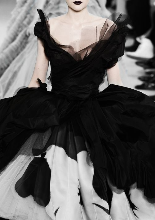 Dior black and white ball gown
