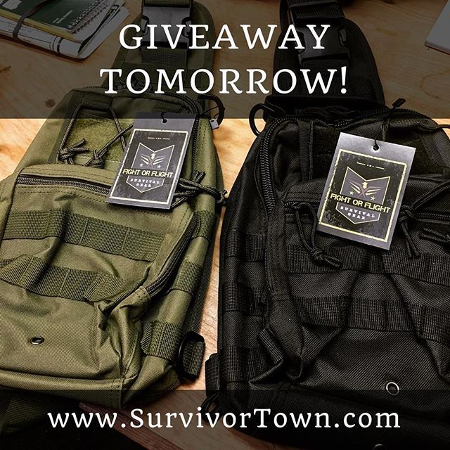 🌲🇺🇸🏕 Hey eveyone tomorrow we will be announcing the winner of monthly Fight or Flight Tactical Sling Bag giveaway! So please sign up now so you dont miss out! ⏩Enter now at SurvivorTown.com. Link in bio. **** #bugoutbag #edcgear #pocketvomit #molanlabe #donttreadonme #1776united #badasserry #pocketdump #handdump #gear #valhalla #dailycarry #edccommunity #tactical #tacticool #edc #everydaycarry #tacticallife #tacticalgear #everydaytactical #tactical #survivalskills #prepping #bepreparred…