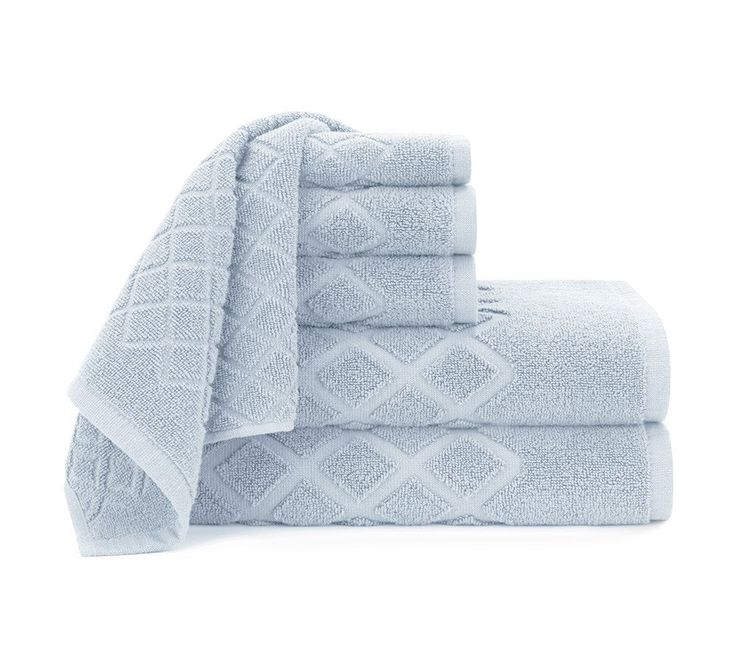Diamond Jacquard 6 Piece Towel Set 30 50 Bath Sheet