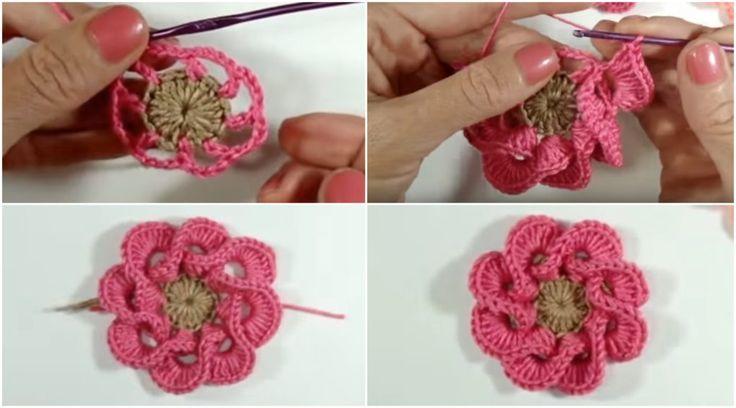 Multi Petals 3D Flower – Tutorial – Craft-Addicts