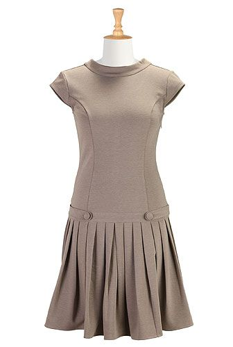 I <3 this Drop waist ponte dress from eShakti. This color looks horrible on me though. Fingers crossed they make it in black or navy.