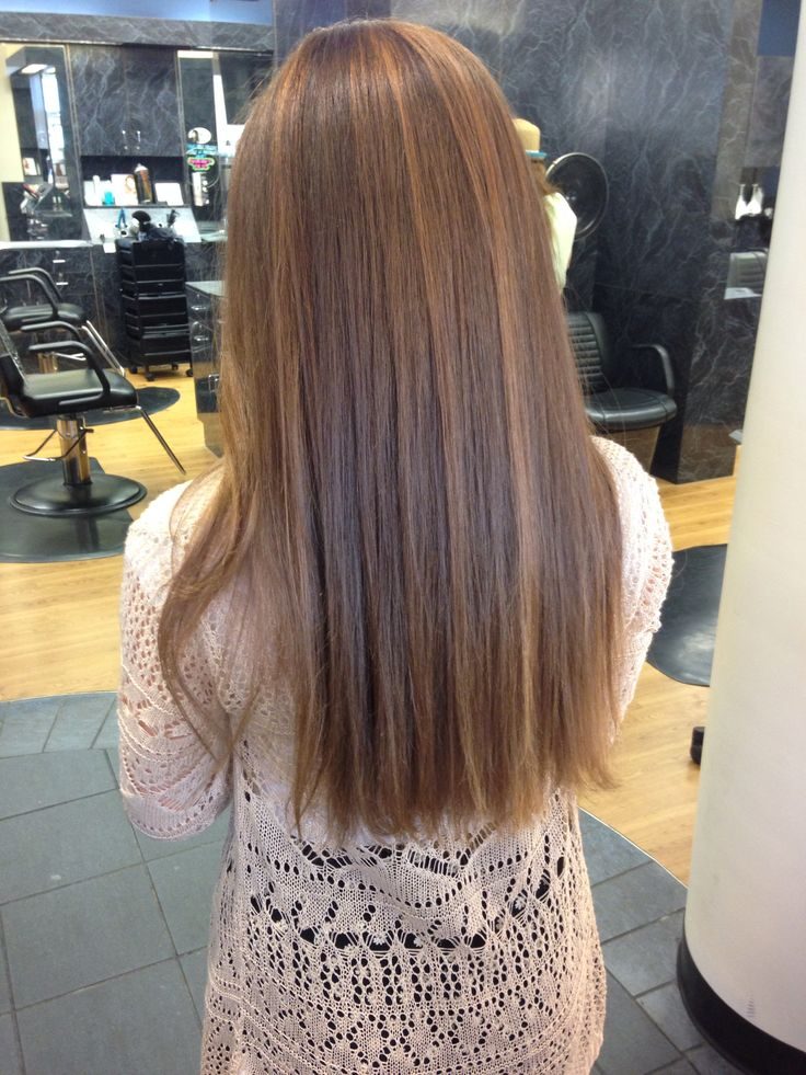 Dark Brown Hair With Small Mousy Brown Highlights