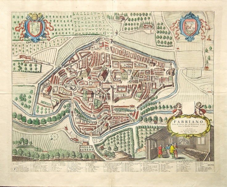 Historical map of Fabriano city #Fabriano #Culture #Marche #Italy #Story