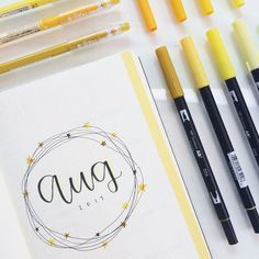 """alohomorastudies: """"8.8.17 // 7:40 my august intro page in my bullet journal :) im finally back from camp so i'll be able to post more often now! studygram """""""