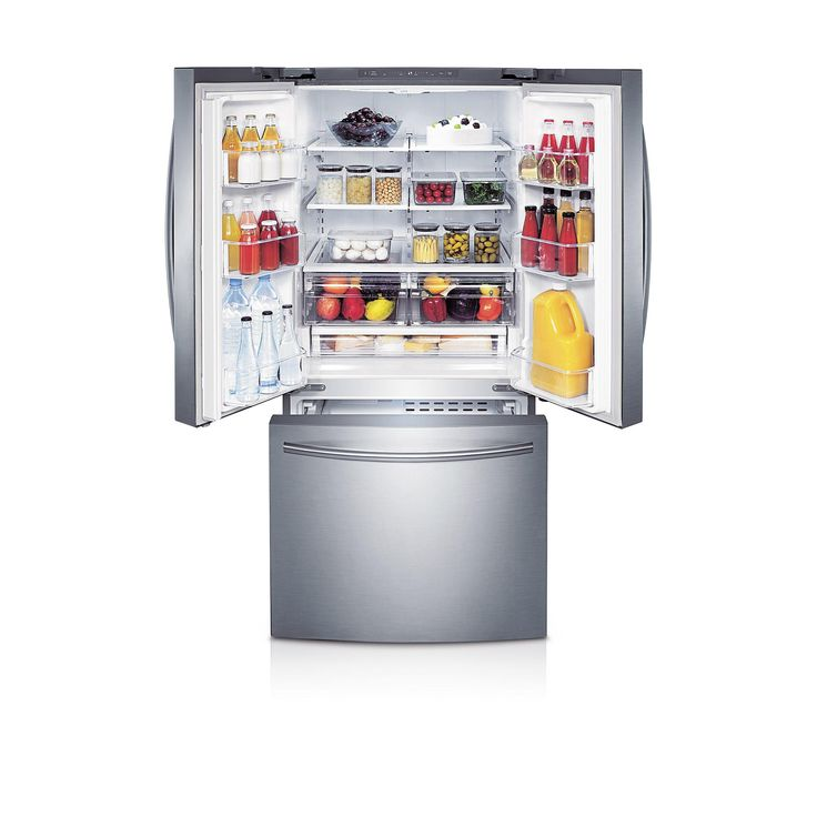 If you like to buy in bulk, the Samsung RF220 refrigerator easily accommodates your shopping list. Features such as LED lighting help increase storage space in both refrigerator and freezer compartments, giving you enough room to store an extra 15 gallons of milk. The additional space also helps you better organize your food items, so you can quickly find that jar of mayonnaise without keeping the door open for too long.