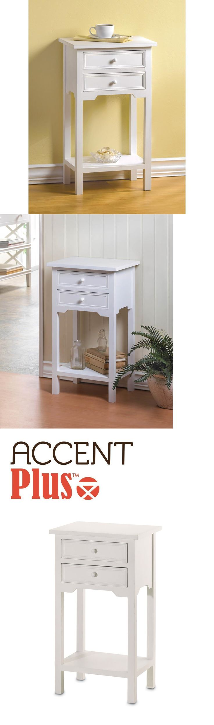 furniture: White Side Sofa End Table Night Stand New~36644 BUY IT NOW ONLY: $62.33