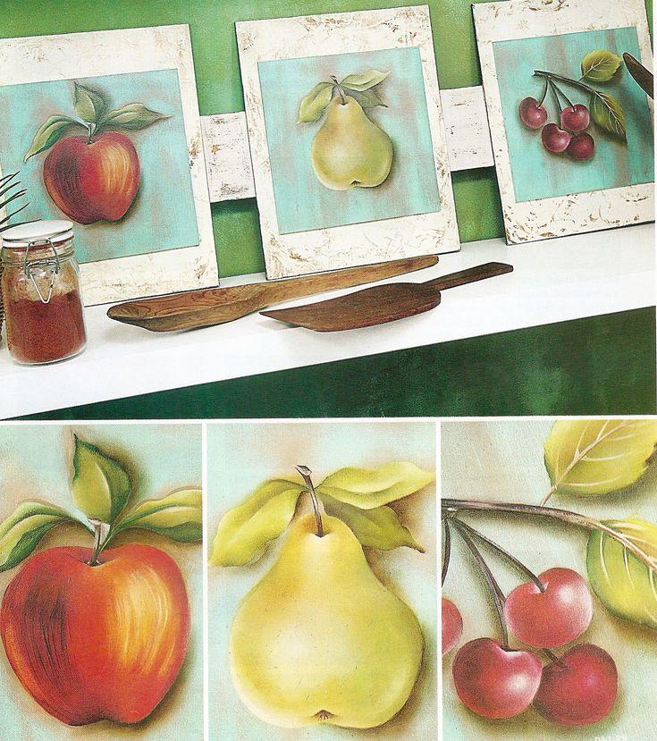 Estudio delier cuadro manzanas 50x50 cuadros originales - Cuadros originales para cocina ...