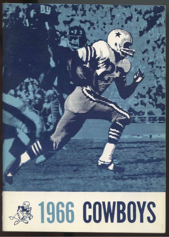 1966 DALLAS COWBOYS Press Radio TV NFL Football Media Guide-Bob Hayes Cover