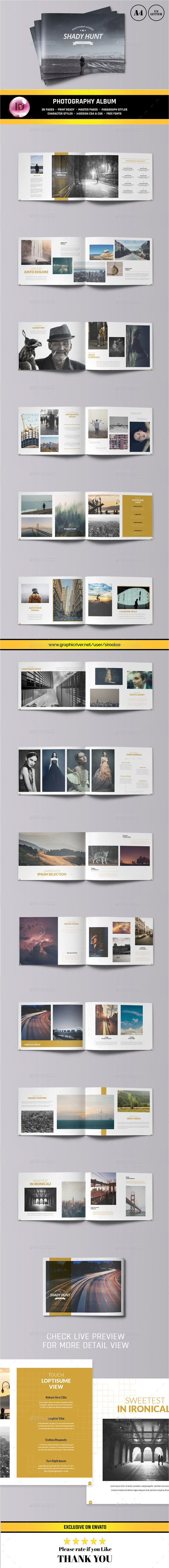 Photography Portfolio Album Template #design Download: http://graphicriver.net/item/photography-portfolio-album/12034297?ref=ksioks