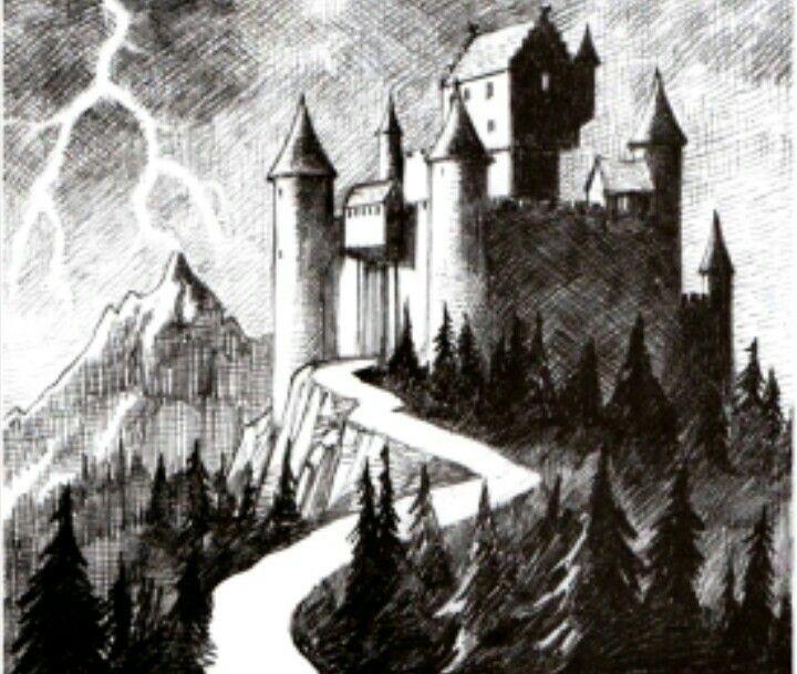 старый замок картинки карандашом смысла