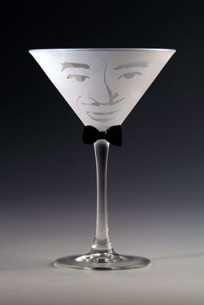 Orlando Etched Martini Glass by Asta Glass