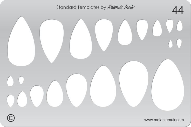 Acrylic template No. 44. Perfect for creating a wide variety of polymer, metal or clay bracelet, necklace, pendant and earring designs.