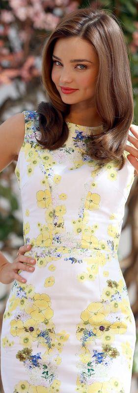 Floral Print Street Style | Miranda Kerr