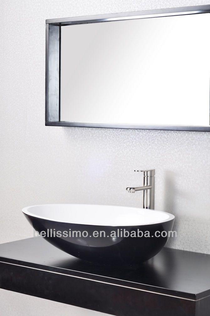 luxe badkamer, ovale wastafels, stenen wasbak bs- 8304( zwart, meer kleur)