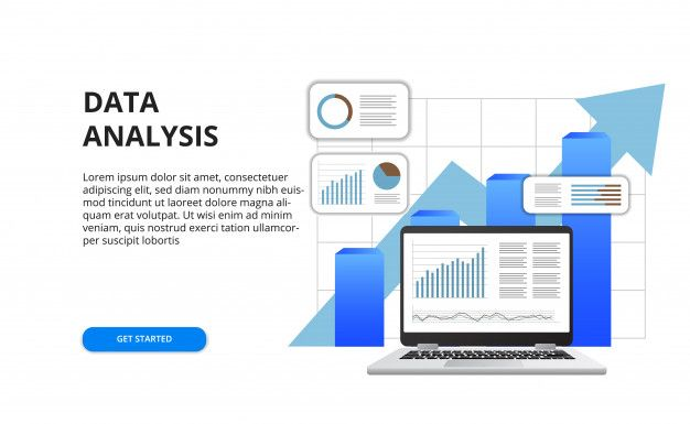 Data Analysis For Business Finance Report Concept With