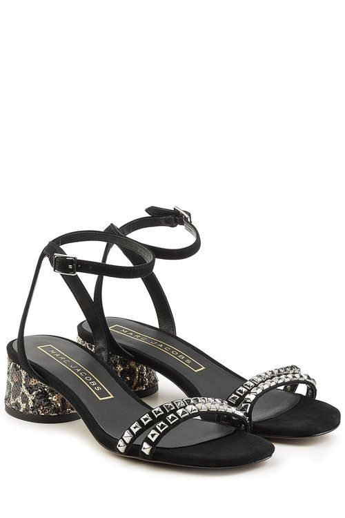 Embellished Sandals with Block Heels | Marc Jacobs