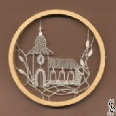 No. 10933  		   Dark / light frame without glass, diameter 10,5 cm. Price: € 14  ............................  Protected by copyright!