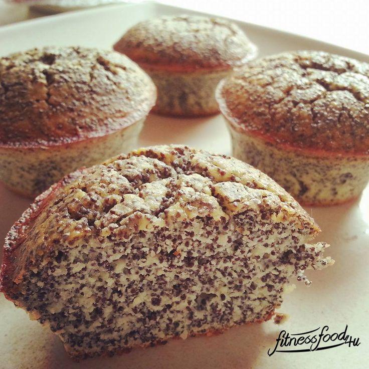 Low Carb Mohn Muffins Evtl. mit Kakao und oder Nüssen