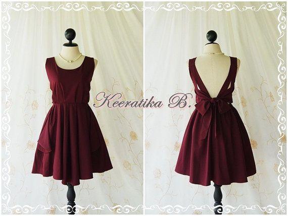 Neujahr VERKAUF Party V rückenfreies Kleid von LovelyMelodyClothing