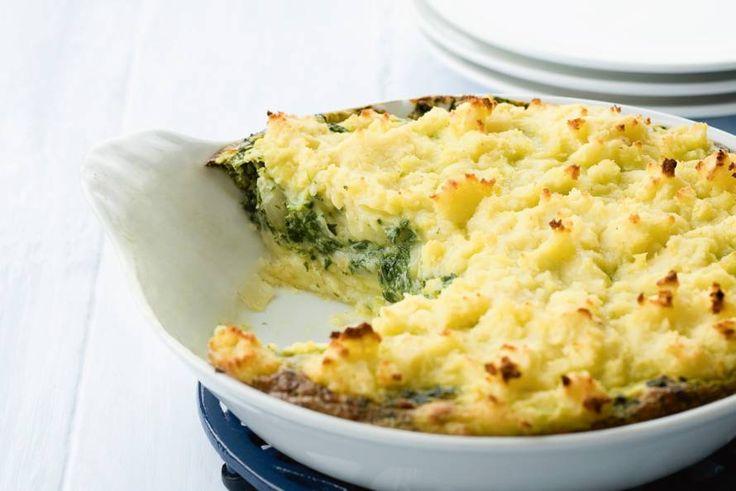 Allerhande - Ovenschotel van spinazie met kaas