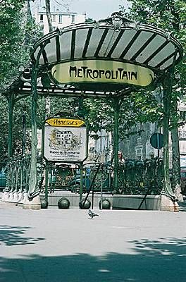 Hector Guimard, bouche de métro, Paris