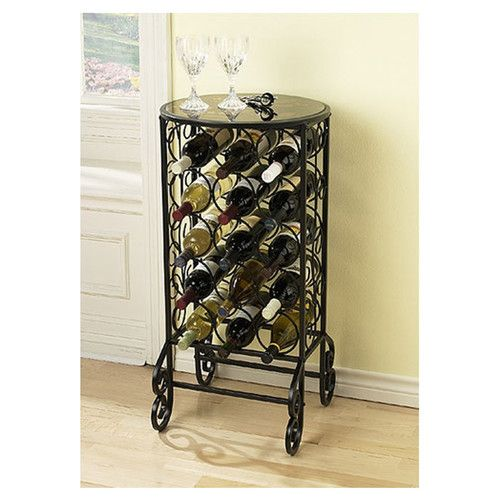Found it at Wayfair - Fox Glass 15 Bottle Wine Rack & Table