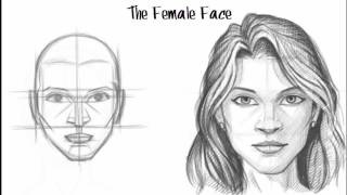 How to Draw the Female Face, via YouTube.