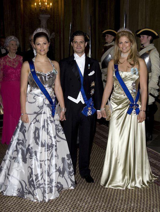 Siblings the Princess of Sweden, Crown Princess Victoria, Prince Carl, & Princess Madeleine