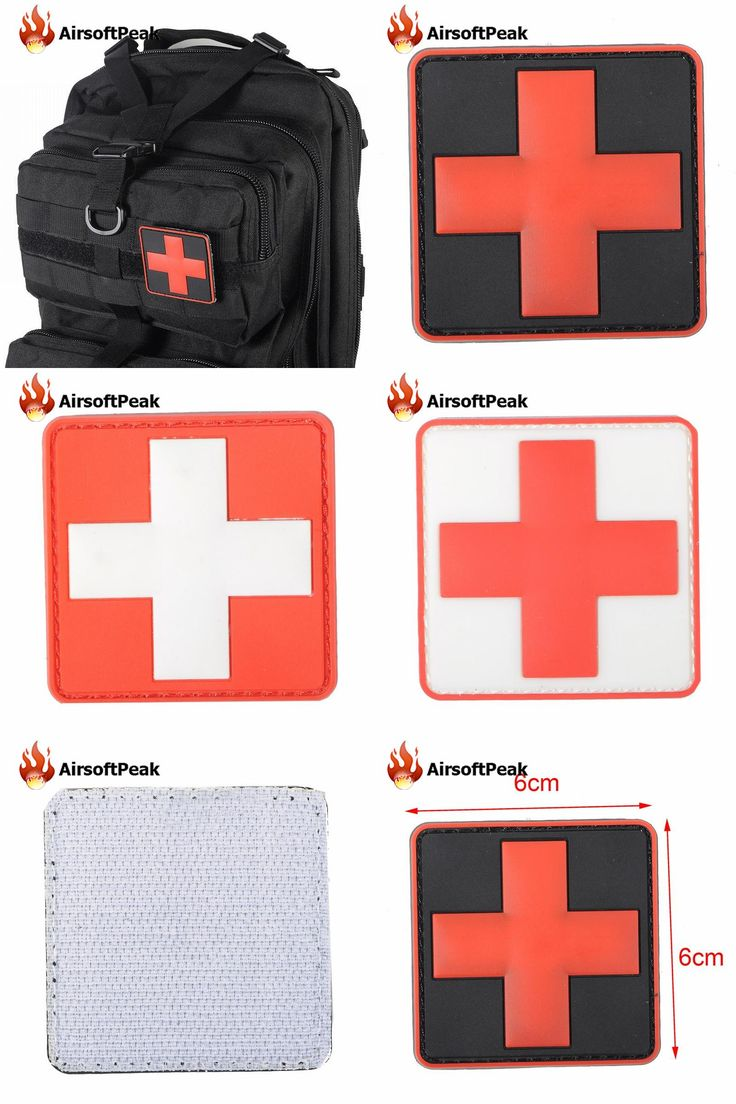 [Visit to Buy] AIRSOFTPEAK PVC Patch Armband The Medical Rescue Of The Red Cross Military Army Patches Badges Tactical Gear Props For Pouches  #Advertisement