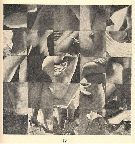 Cubomania Collage By Ghérasim Luca.  1945.