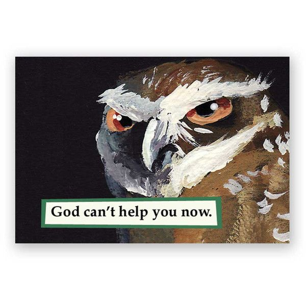 God Can't Help You Now Magnet Owl Bird Humor Mincing Mockingbird Gift... (6.32 AUD) ❤ liked on Polyvore featuring home, home decor, dark olive, home & living, kitchen & dining, kitchen décor and refrigerator magnets