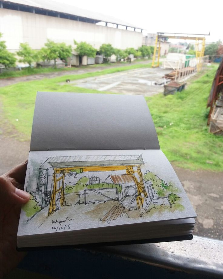 Workshop Office - sketch on canson sketchbook by luthfiahra