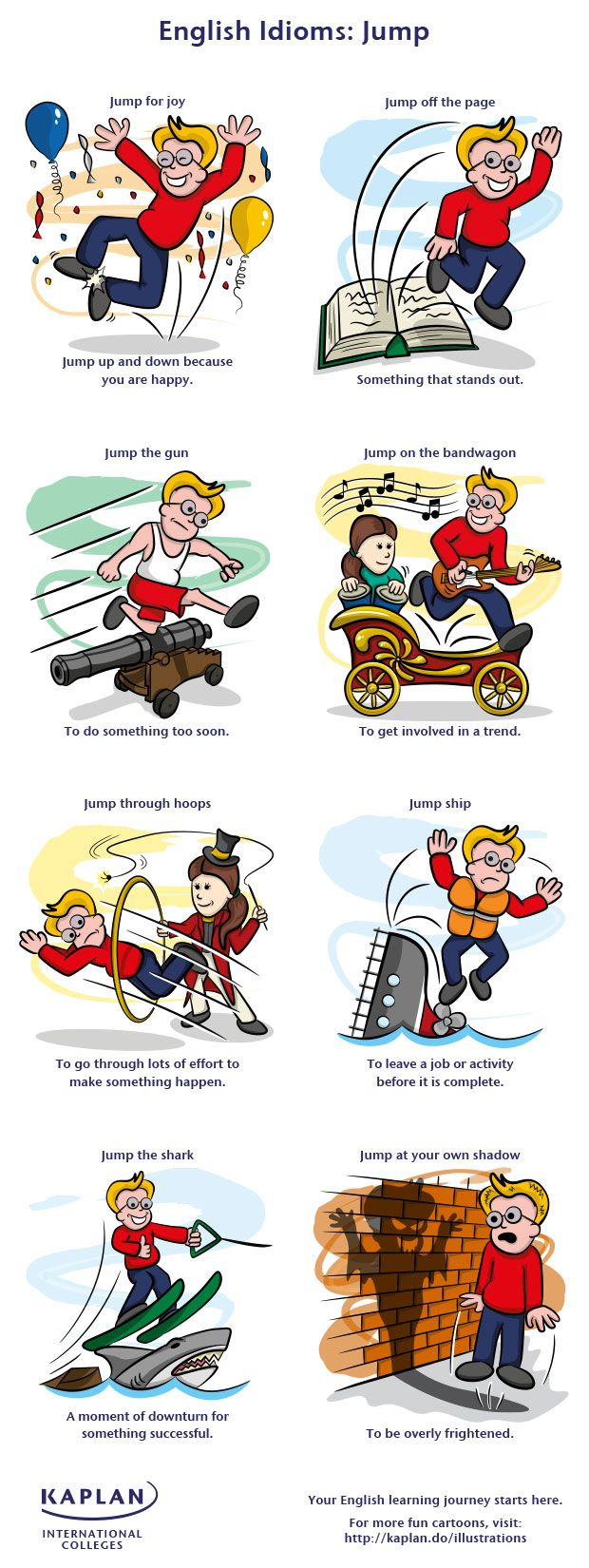 Free English Idiom Lesson: Idioms Using Jump