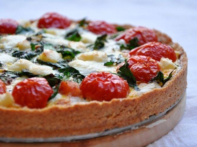 Torta salata senza glutine in crosta di mandorle - Gluten-free pie crust with almonds