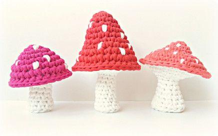 free mushroom crochet pattern