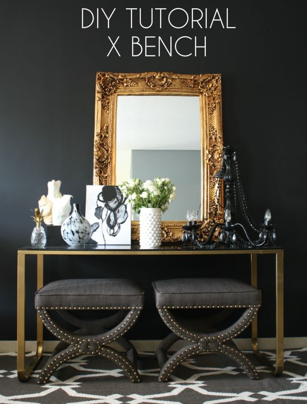 Creating with the Stars: Black Rooster X-Bench Knock Off {Tutorial} @B R O O K E // W I L L I A M S EVA #CWTS2014 #knockoff #ontheblog